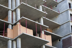 Construction of multistory building Royalty Free Stock Photos