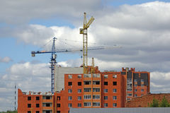 Construction of a multistory building Stock Image