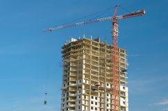 Construction of a multistory building Stock Photography