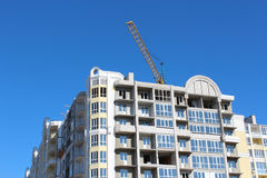 Construction of multistory modern house Stock Photography