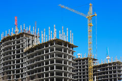 Construction of multystoried buildings Royalty Free Stock Image