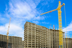Construction of multystoried buildings Royalty Free Stock Photography