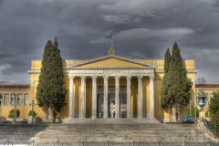 Construction néoclassique de megaron de Zappeion à Athènes images libres de droits