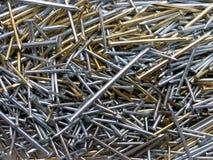 Construction Nails - assortment stock photos