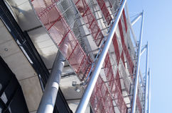 Construction of National Stadium in Warsaw, Poland Royalty Free Stock Photos