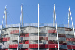Construction of National Stadium in Warsaw, Poland Stock Photography