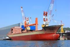 Construction navale, réparation de bateau photo libre de droits