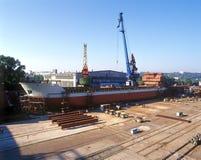 Construction navale, réparation de bateau Photos stock