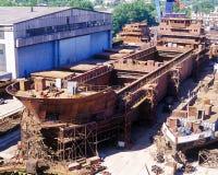 Construction navale, réparation de bateau Photos libres de droits