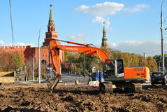 Construction near the Moscow Kremlin Royalty Free Stock Photography
