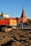 Construction near the Moscow Kremlin Royalty Free Stock Photo