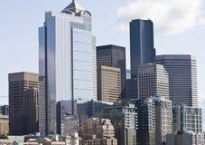 Construction neuve à Seattle photographie stock libre de droits