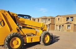 Construction neuve de maison de construction Photographie stock libre de droits