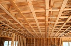 Construction neuve de plafond photographie stock