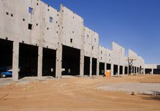 Construction neuve de Stripmall Photographie stock
