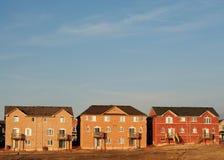 Construction neuve de subdivision Photos libres de droits