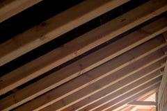 Construction neuve de toit Photographie stock libre de droits