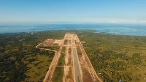 Construction of a new airport terminal.Philippines, Bohol, Panglao. Construction of a new airport terminal on Panglao. Aerial view Modern airport terminal Stock Images