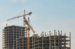 Construction of new apartment building Stock Photo