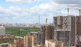 Construction of new apartment buildings Stock Photo