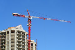 Construction of a new apartment house Stock Photos