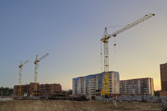 The construction of new apartment houses Royalty Free Stock Photo