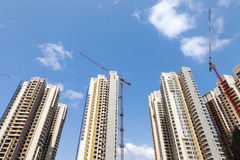 Construction of new apartments Royalty Free Stock Photo