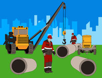 Construction of new area. Stock Images