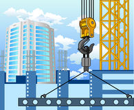 Construction of new area vector illustration