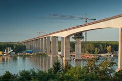 Construction of a new bridge Royalty Free Stock Images