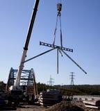 Construction of new bridge Royalty Free Stock Image