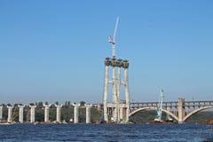 Construction of a new bridge Stock Photos