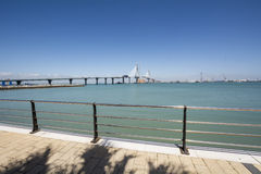 Construction of the new bridge in Cadiz, Spain Stock Photography