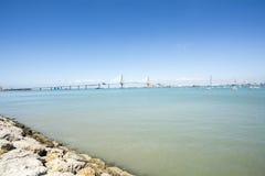 Construction of the new bridge in Cadiz, Spain Stock Image
