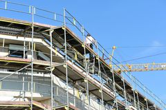 Construction of new building Stock Photography