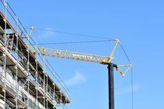 Construction of new building Stock Photos