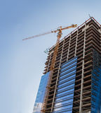 Construction of new building Stock Image