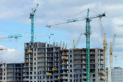 Construction of the new building Royalty Free Stock Image