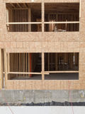 Construction of new building empty window openings Royalty Free Stock Images