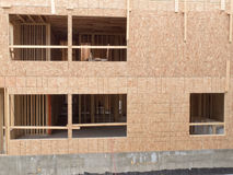 Construction of new building empty window openings Stock Image
