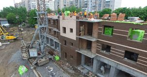 Construction Of The New Building stock footage