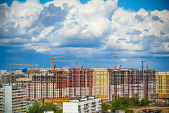 Construction of new buildings and beautiful sky Royalty Free Stock Image