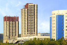 Construction of new buildings. Royalty Free Stock Images