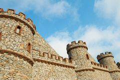 Construction of new castle royalty free stock photos