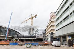 Construction of the new central station in Utrecht Royalty Free Stock Image