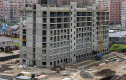 Construction of a new district. Multi-storey residential house under construction Stock Photo