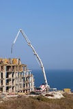 Construction of new elite housing on the sea Royalty Free Stock Image