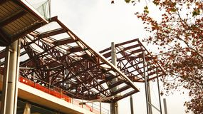 Construction of the New Encantes or Fira de Bellcaire in Barcelona. Catalunya, Spain stock photo