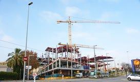 Construction of the New Encantes or Fira de Bellcaire in Barcelona. Catalunya, Spain stock image