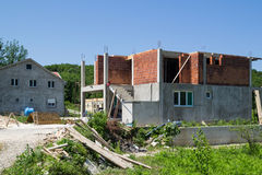 Construction a new european style house Stock Photography